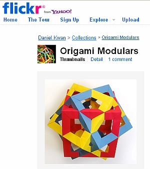 Origami: Six intersecting pentagonal prisms | 338x300
